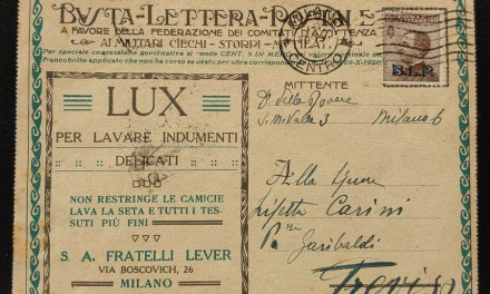 Italy #CB13 40c B.L.P. Overprint on appropriate Milano/Treviso Card