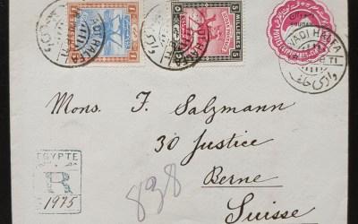 Sudan 1898 Wadi Halfa Registered Cover to Switzerland