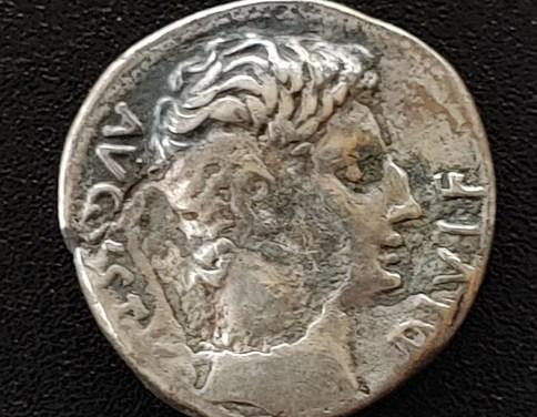 Augustus 27BC-14 AD Silver Denarius