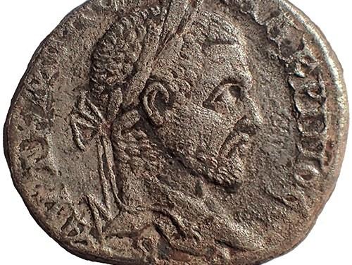 Macrinus 217-218 AD 27mm 13.9gm Emesa Silver Tetradrachm