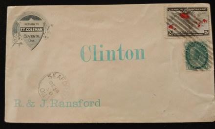 24 Dec 1898 3c T.T. Coleman 2c Map Corner Cover to Clinton, rc