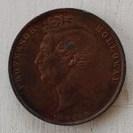 Australia VF 1858 Prof. Holloway London Penny Token, rim nicks