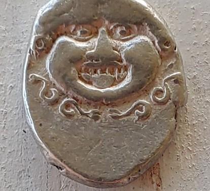Thrace, Apollonia Pontika abt 400 BC 13/16mm 2.8gm Silver Drachm
