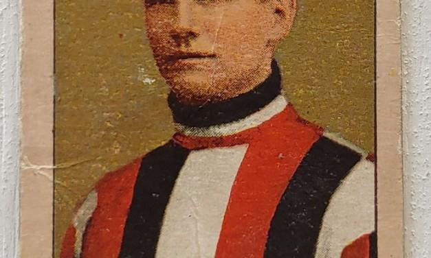 Bruce Stuart 1910/11 C-56 Imperial Tobacco #17 Rookie Card, wear