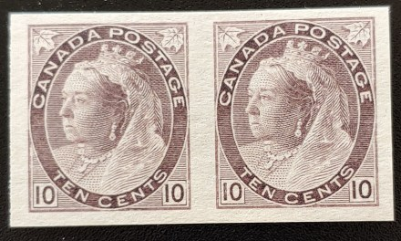 Canada #83ii VF Unused 1898 10c Imperforate Pair