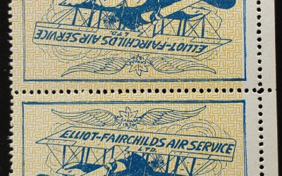 Elliot-Fairchilds #CL9 VFNH 1926 25c Tete-Beche Pair
