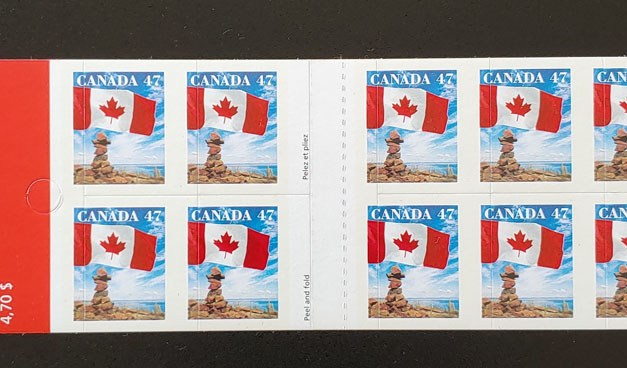 Canada #1700d Never Hinged Miscut Booklet Pane (10)