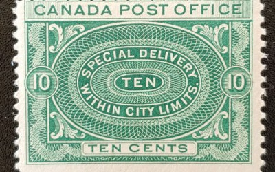 Canada #E1 Fine Never Hinged 1898 10c Special Delivery