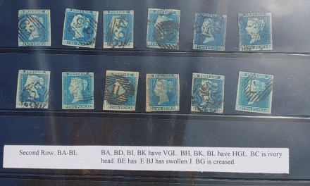 G.B. #4 Used 1841 2d Blue reconstructed Sheet of 240