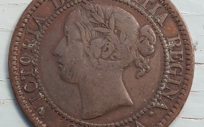 Province of Canada VG 1858 first Large Cent