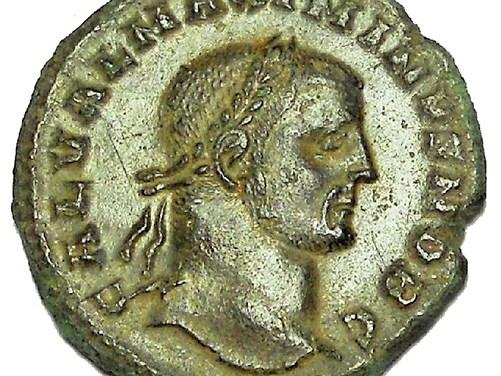 Galerius 305-311 AD 25mm 6gm AE Follis struck at Cyzicus