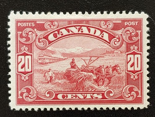 Canada #157 VF Mint 20c Harvest selected for centering