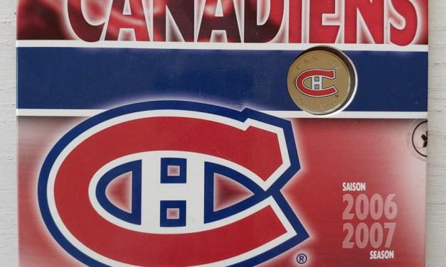 Canadiens BU 2007 coloured Hockey Team 25c in 7-coin Set
