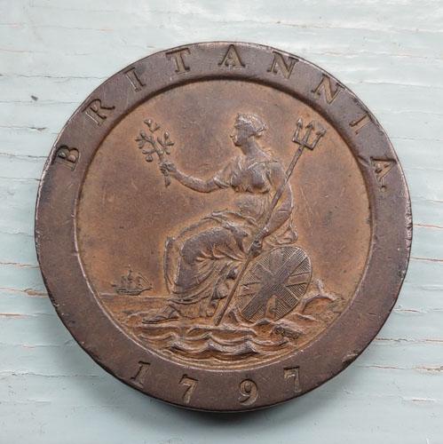 G.B. VF+ 1797 George III Cartwheel Two Pence