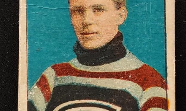 Angus Campbell C-56 1910-11 No.9 Rookie Hockey Card rd corners