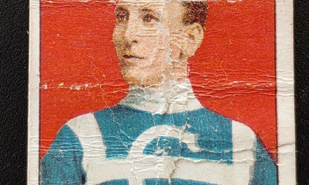 Ed Decary 1910/11 C-56 Rookie Hockey Card #13, faults