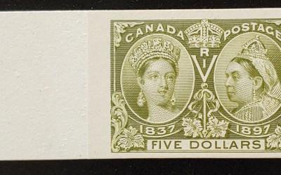 Canada #65P VF 1897 $5 Diamond Jubilee Plate Proof