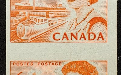 Canada #468A Never Hinged 1967 6c Centennial Coil Misperf ex Penko