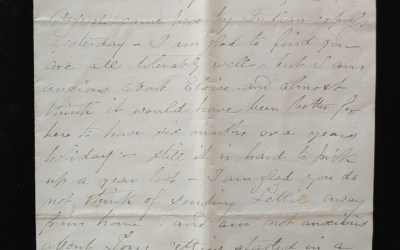 Blackwater 45 Miles NW of Quesnelle 23 Sep 1875 Marcus Smith letter