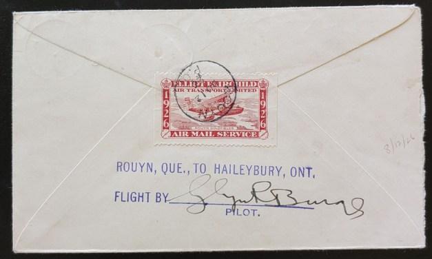 Elliot-Fairchild Air #CL10 12 Au 1926 27c pilot-signed Flight Cover