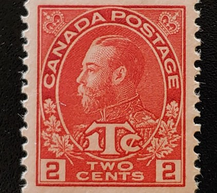 Canada #MR3b XFNH 1916 Rose Red War Tax Admiral