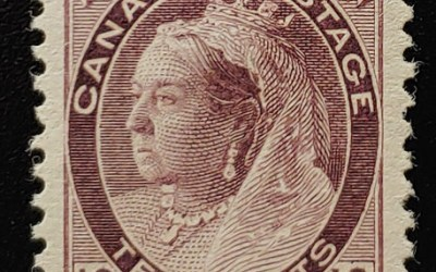 Canada #83 VF Mint HR 1898 10c Brown Violet