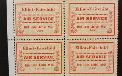 Elliot-Fairchild #CL8c in F/VF Never Hinged 1926 25c Pane (4)