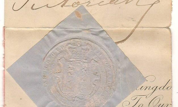 Queen Victoria 4×5″ Signature on document piece