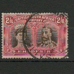 Rhodesia #113 2/6d Bistre Brown & Crimson Double Head