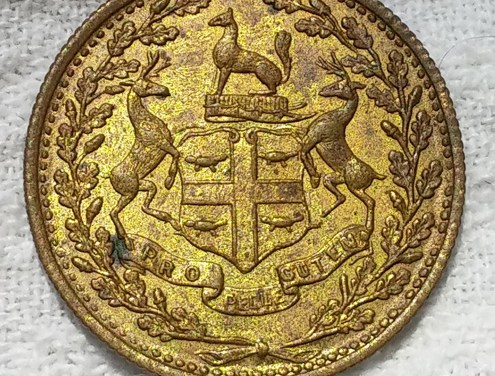 Hudson's Bay Company 1854 1/4 Made Beaver Token