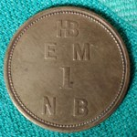 H.B.C. EFT1 1857 1 Made Beaver Eastmain Token