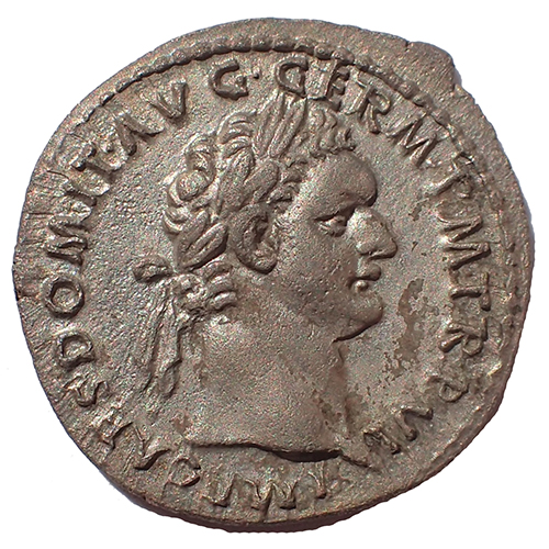 obverse, bust of Domitian
