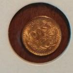 Mexico 1945M Gold Two Pesos .0479 oz AGW