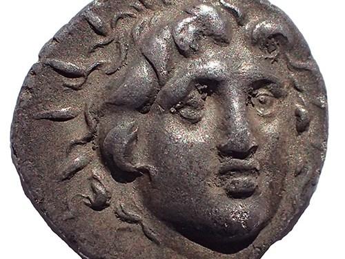 Rhodes circa 125-88 BC 13mm 1.4gm Silver Hemidrachm w/ Helios