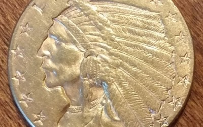 U.S.A. XF 1913 $2.50 Indian Head Gold  .1209 oz AGW