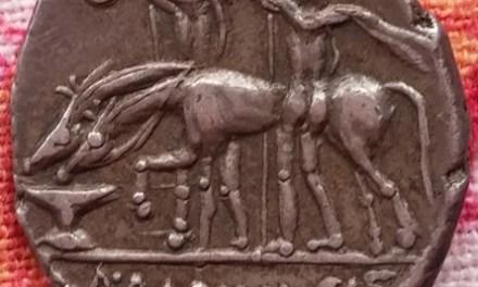 Roman Republic A. Postumius Albinus 131 BC Silver Denarius