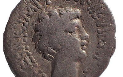 Marc Antony & Octavian 41 BC 18mm 3.4gm Silver Denarius