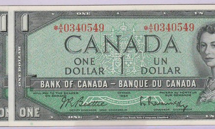 Canada #BC37aA consecutive Gem Unc 1954 Replacement $1 trio
