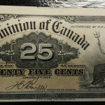 Dominion of Canada #DC15b Unc 1900 25 Cents Shinplaster