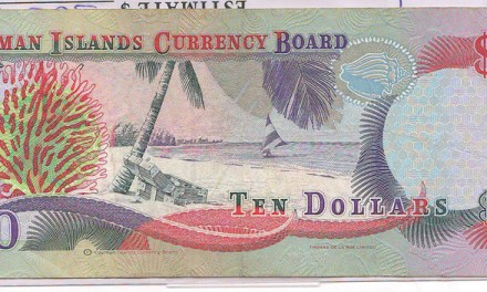 Cayman Islands #P18b 1996 prefix X/I Experimental Paper $10