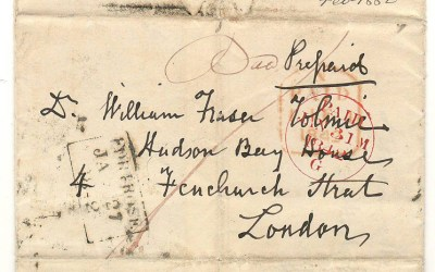Hugh Fraser 1842 Scotland FLS to William Fraser Tolmie HBC London