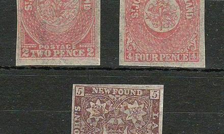 Newfoundland #17i, 18ii, 19i Fine+ Mint Watermarked trio $405.