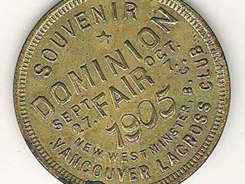 Province of B.C. BU Souvenir of 1905 Dominion Fair Medallion