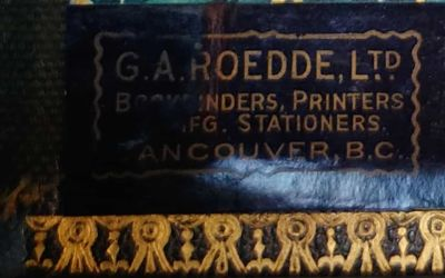 Gerald Wellburn's Fraser River Gold Rush album binder by Roedde in Vancouver