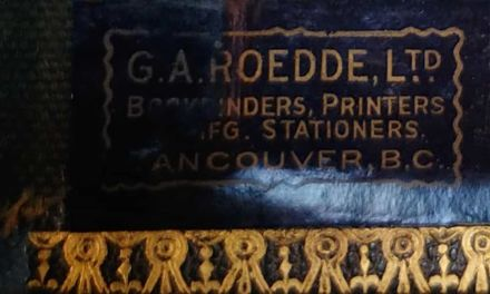 Gerald Wellburn's Fraser River Gold Rush album binder by Roedde in Vancouver