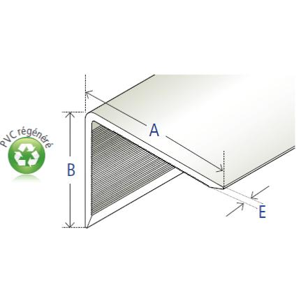 Corniere Asymetrique Crantee A Angle Arrondi En Pvc Blanc Regenere 40 X 30 X 3 2