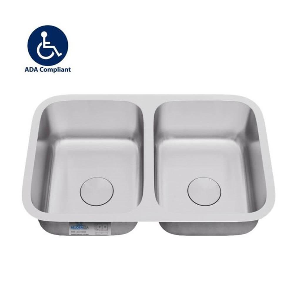 ada 3118 double bowl undermount sink