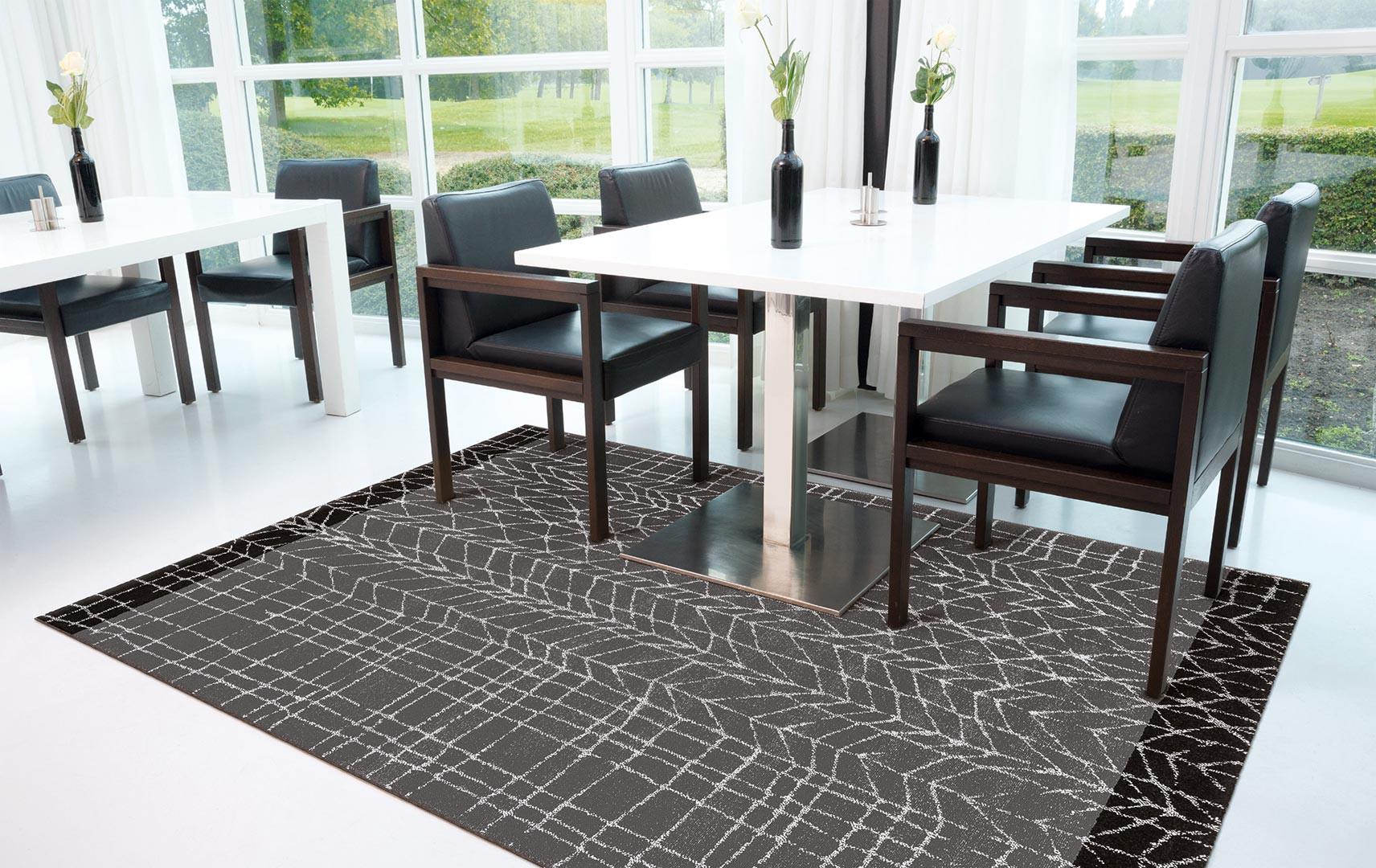 tapis moderne de salle a manger line up arte espina