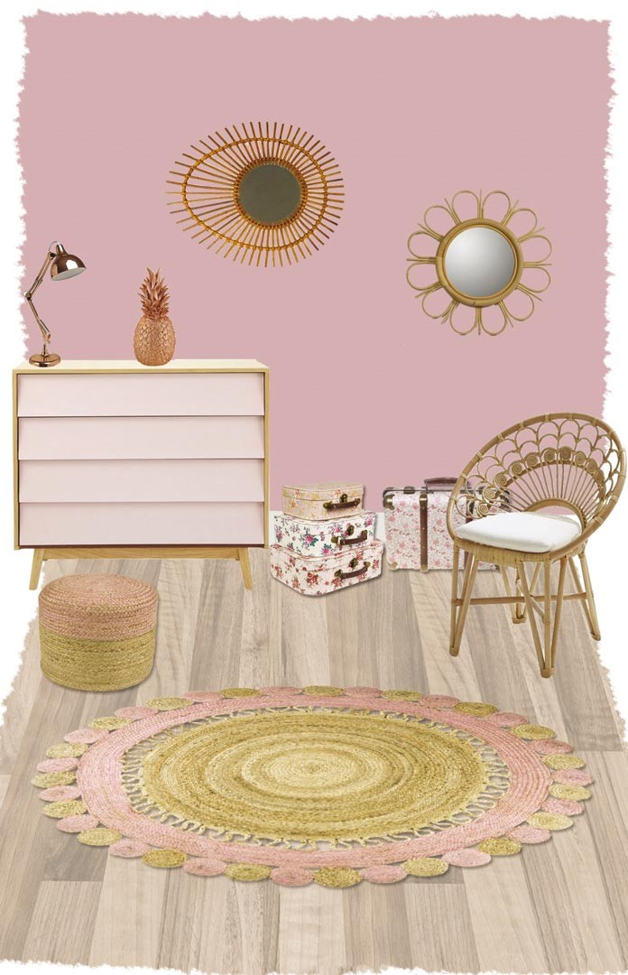 tapis rond en jute pour chambre d enfant anusha nattiot