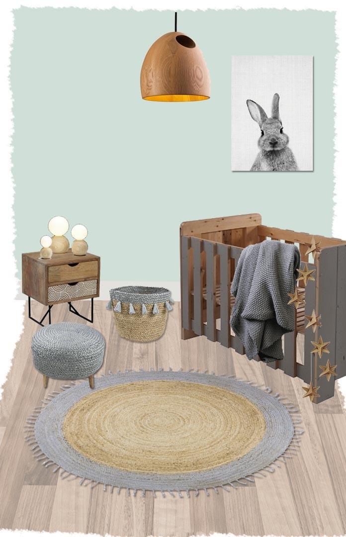 tapis rond en jute avec franges pour chambre d enfant aslesha nattiot
